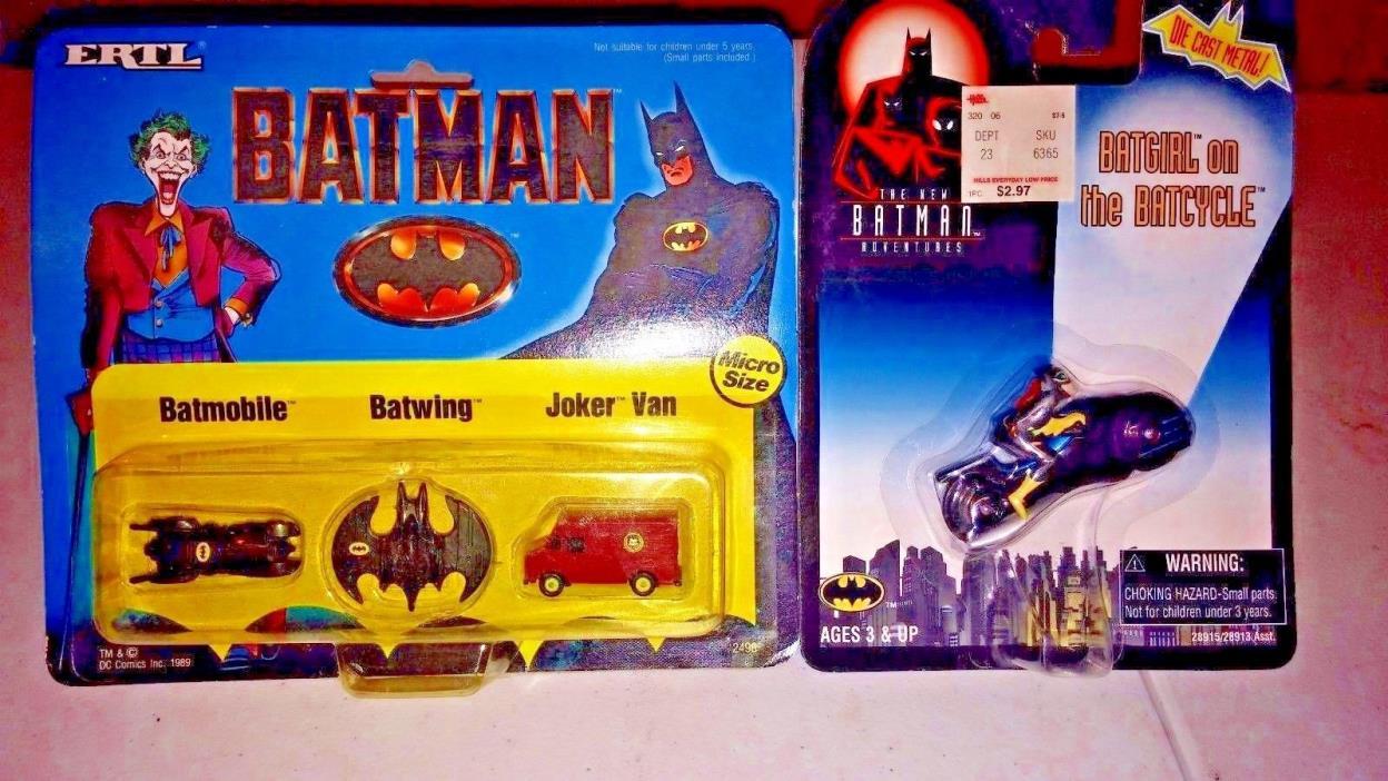 Pair of Vintage Batman Toys NIP