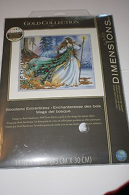 Dimensions Gold Collection Cross Stitch Kit - Woodland Entrantress - NIP