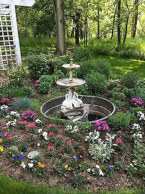Antique Coalbrookdale Cast Iron Swan Bird Urn Planter Fountain circa 1840