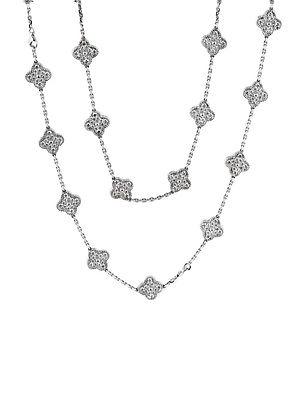 Van Cleef & Arpels Diamond Alhambra Necklace and Bracelet