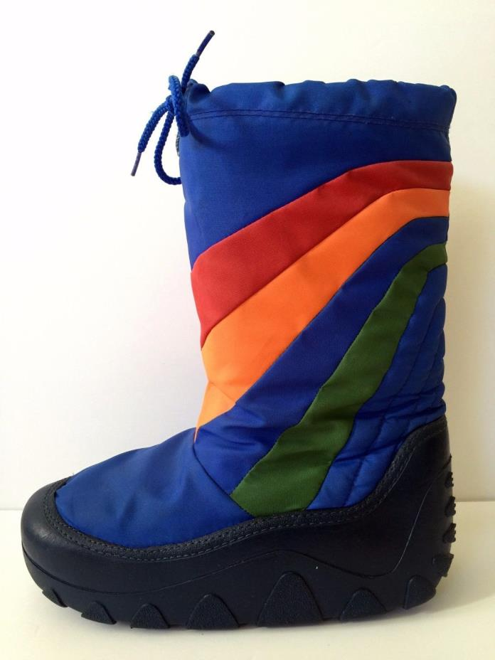Vtg 80s 70s Rainbow Moon Boots Winter Snow Skiing Mens 9/10 Women 10.5/11.5