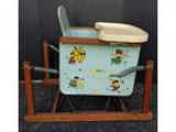Antique baby bouncer chair vintage wood spring chair (Schaumburg