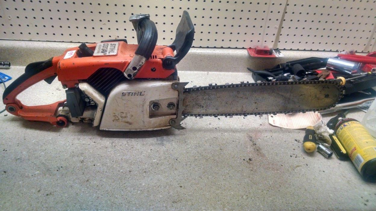 Vintage Stihl 031 AV Chainsaw for parts or repair.