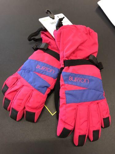 Burton SnowBoard Youth Girls DryRide Pink Gloves Size Large