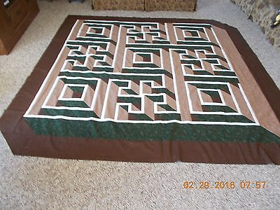 Labryrith Walk homemade quilt top 84x84