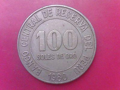 PERU  100  SOLES  DE  ORO     1980