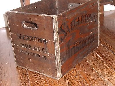 Collectible Vintage Saegertown Aristocrat Ginger Ale Industrial Wood Soda Crate
