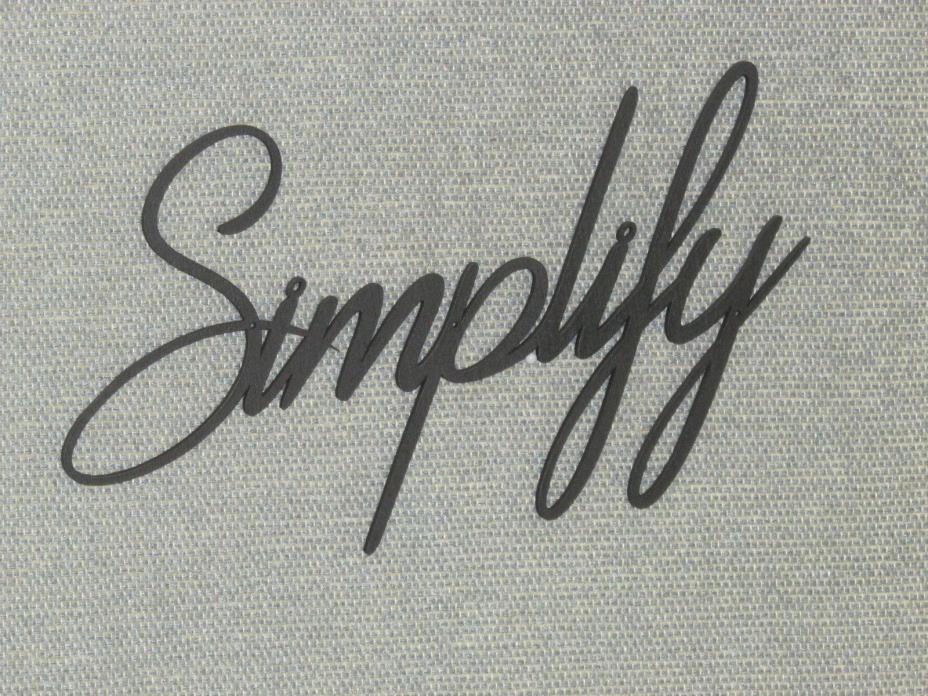 Simplify Wall Word Decor Art
