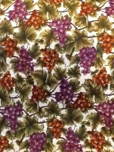 1990's HI Fashion Fabric Grapes 5 Yards , 44