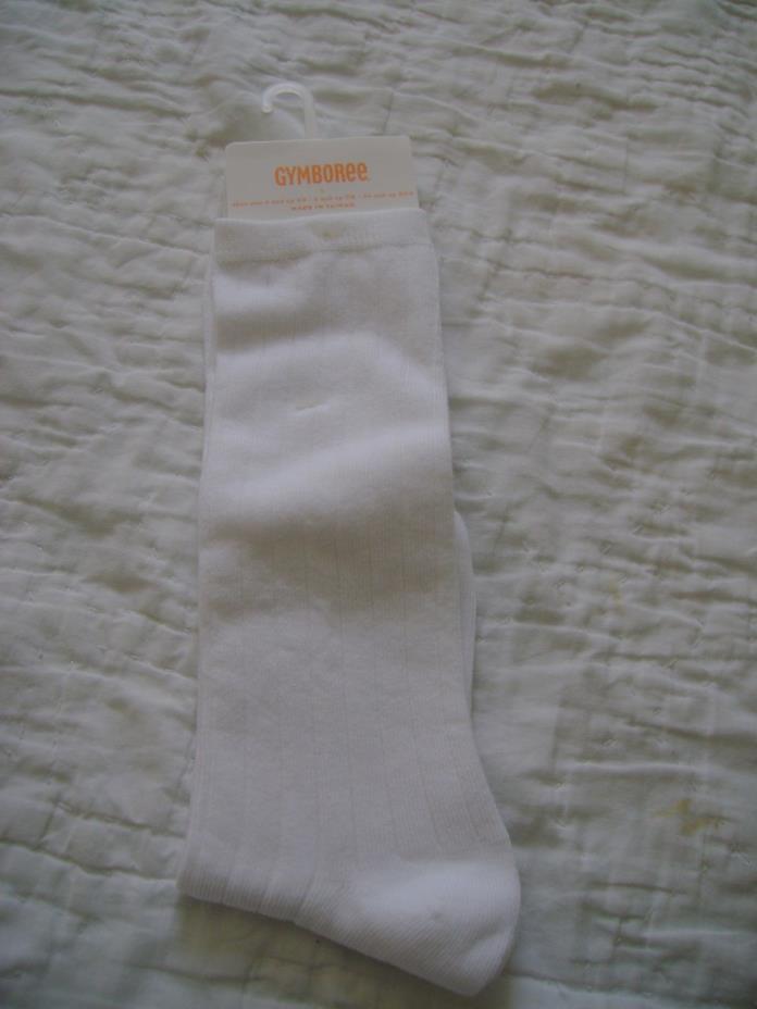 NWT New Gymboree Knee High Girls WHITE Socks Shoe Size 3 4 5 NEW
