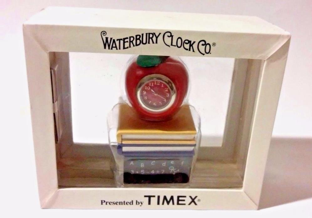 Waterbury Clock Presented by TIMEX Apple Clock with Books
