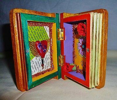 FOREVER LOVE Art Box Display Amor Wood Embellish Decorate ORIGINAL One-Of-A-Kind