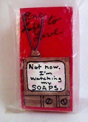 Miniature Television Dollhouse Curio Soap Opera G Minis 2