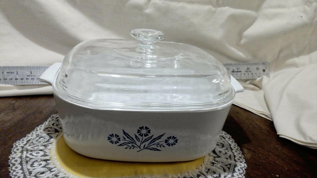 Corning Ware Cornflower Pattern 4 Quart Baking Bowl with Lid