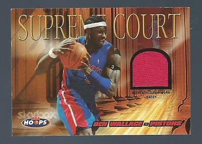 2004-05 Hoops Supreme Court Ben Wallace Jersey