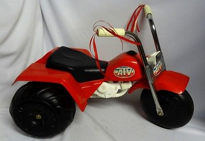 Vintage ATV Ride On Push Toy Honda ATV 3 Wheeler Tricycle Processed Plastics ?