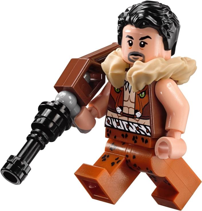 LEGO Marvel Super Heroes Spider-Man Kraven the Hunter Mini figure 76057