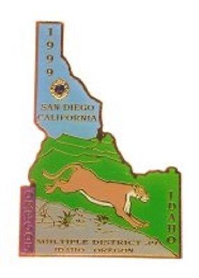 Lions Club Pins - Idaho 1999 Mountain Lion