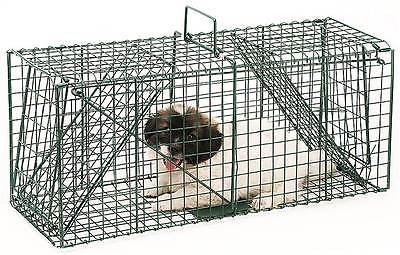 26 in. Dual Door Live Animal Trap Small Animal Trap in Green [ID 3494017]