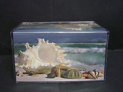 SEA SHELLS OCEAN SIDE BEACH  VINYL CHECKBOOK COVER
