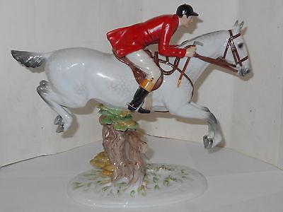 VINTAGE ROYAL VIENNA WIEN AUGARTEN DAPPLED GREY HUNTER HORSE FIGURINE