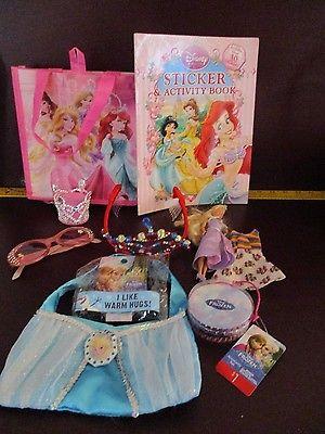Disney Princess lot Mix Bag Stickers braclet Frozen Sunglasses Stocking Stuffer
