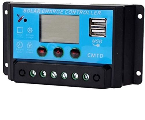 Binwo 10A 12V/24V Solar Charge Controller, Solar Panel Auto Regulator Charge