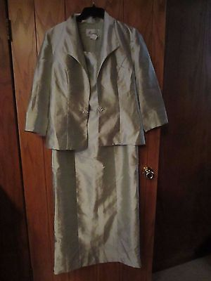 DRESS AND JACKET SET SIZE 14 evening, green, formal