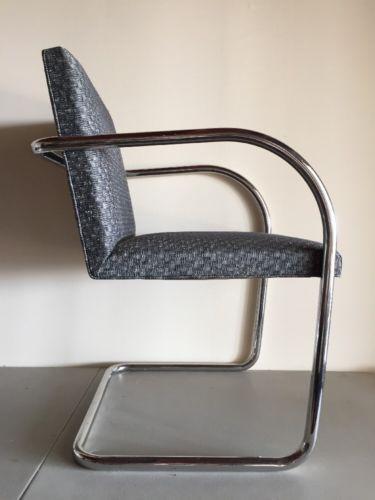 VTG KNOLL BRNO tubular mies van der rohe chair mid-century modern Eames Chrome