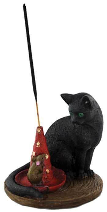 Black Cat Magical Cat & Mouse incense Holder