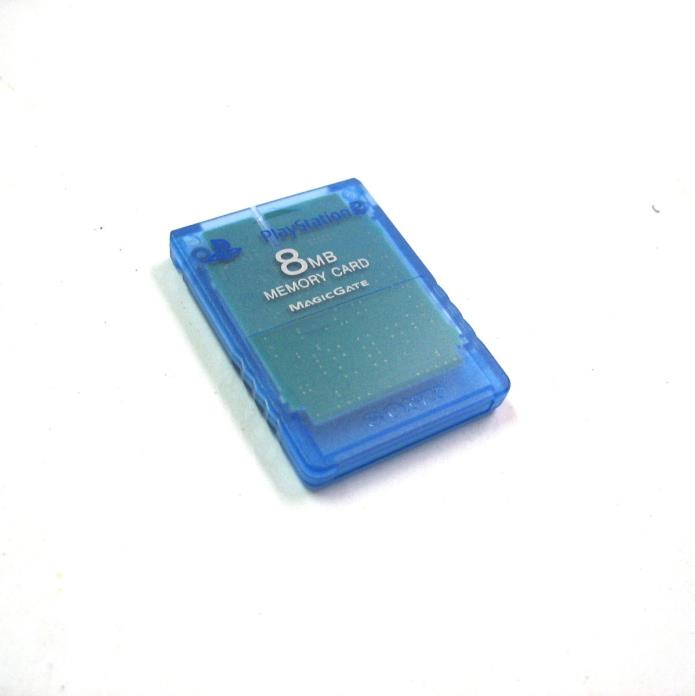 PS2 Official MEMORY CARD Sony Brand Playstation 2 - Blue