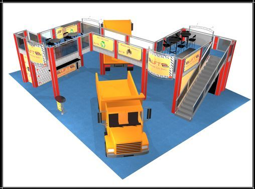 Double Deck Trade Show Booth Exhibit 50 x 40 Display