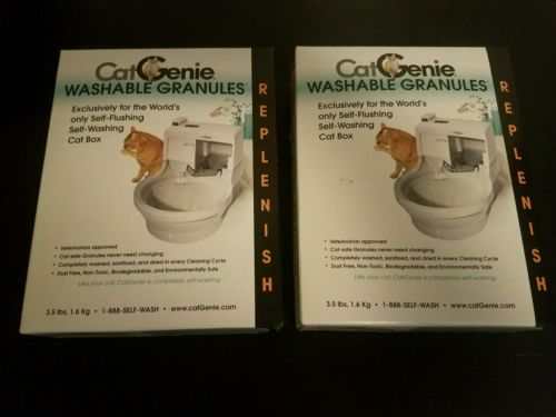 Cat Genie 120 Self-Cleaning Litter Box Washable Granules - 2 Pack- Free Shipping