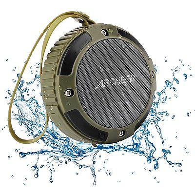 ARCHEER Waterproof Speaker Portable Outdoor Bluetooth Speaker With Bass, 6 Hour