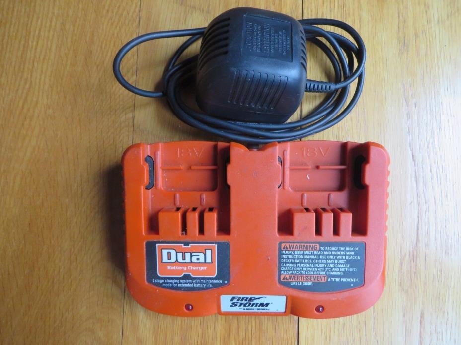 Black & Decker Firestorm 18V dual double charger
