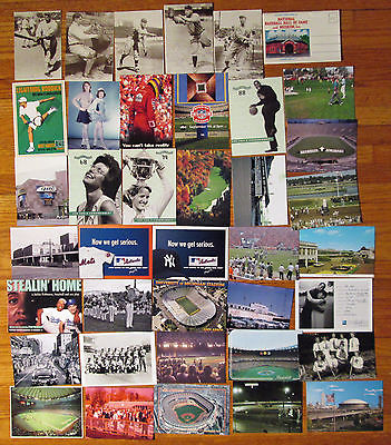 SPORTS LOT - STADIUM POSTCARDs BASEBALL + / PLAYING CARDs / SILVER COIN / Etc