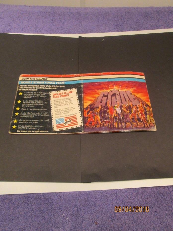 G.I Joe 1985 Advertisement booklet