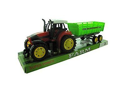 NEW TOY Friction Farm Tractor Truck & Trailer Set NEW TOY