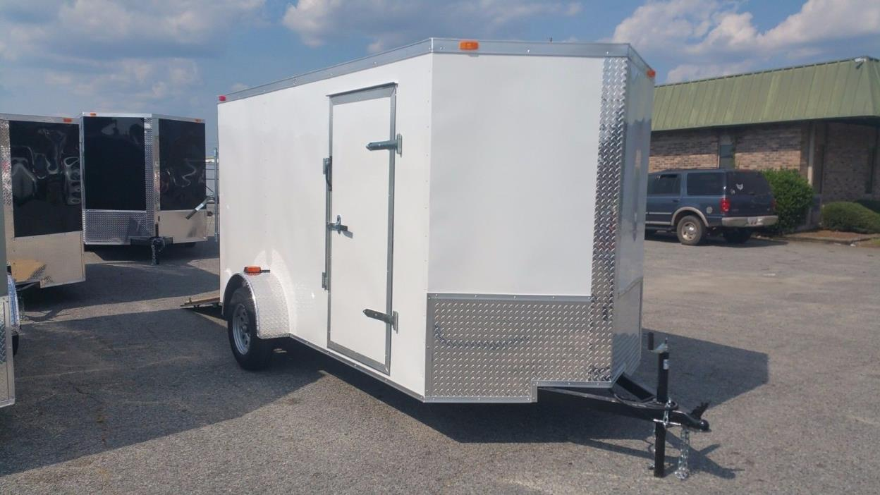 New 2017 6x12 V-Nose Enclosed Cargo Trailer w/Ramp