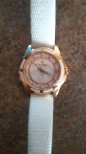 Diamond and rose gold Bulova watch (cornelius)