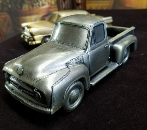 1953 Ford F-100 Pick Up Truck metal diecast 1974 Banthrico coin bank RARE EXCELL