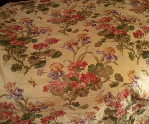 8 yards Kravet Upholstery Designer Decor Fabric Soft Yellow Floral Irises