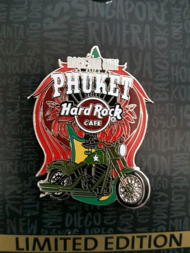 Hard Rock Cafe Phuket LIMTED EDITION Motorcycle Pin
