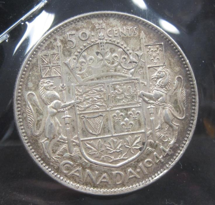 1944 Canada Silver 50 Cents - VK203