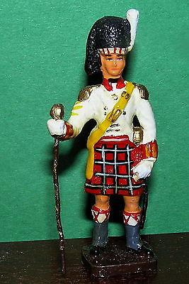 ROYAL HIGHLAND SCOTTISH REGIMENT DRUM MAJOR 1815 TOY SOLDIER KILT HAND PAINTED