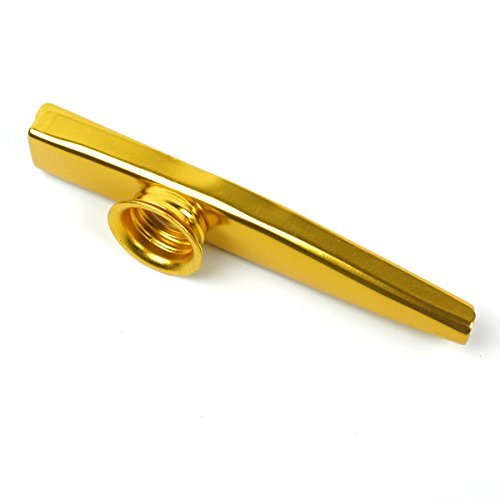 Metal Kazoo Flute Diaphragm Mouth Harmonica wind Instrument ,Gold plated
