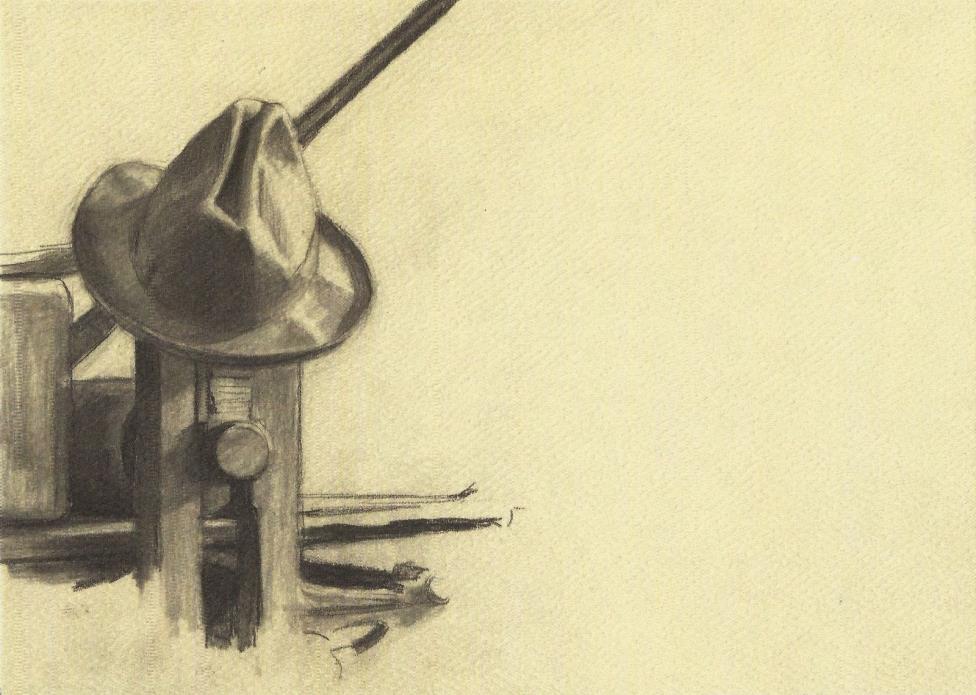 Postcard Edward Hopper Hopper's Hat on His Etching Press Whitney Museum MINT