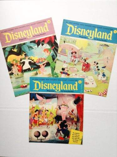 1973 Lot of 3 Disneyland Magazines for Young Readers Mickey Minnie Camper Easter