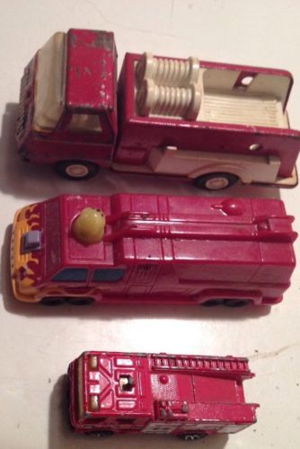Lot 3 Vintage Toy Fire Trucks Fire Engines Matchbox Tonka Fire Engine Fire Truck