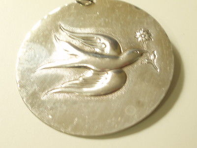 1971 Towle Sterling  Silver Peace Dove Christmas Ornament